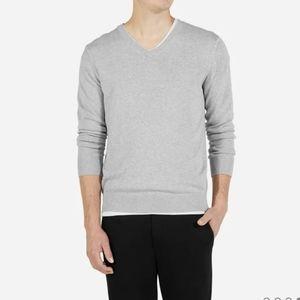 Everlane v neck cotton cashmere blend sweater
